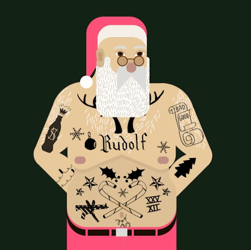 новогоднее поздравление татуировщика дайнеко заявила
