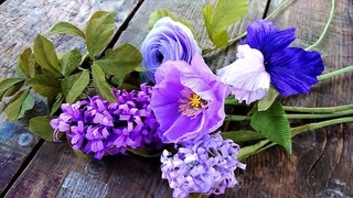 Add purple crepe paper flowers to your home and enjoy the bold, colorful blooms all season long.