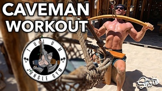 Cave Man Workout at the Jungle Gym