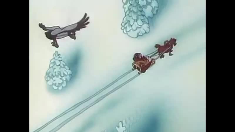 Приключения Мюнхаузена. Волк в упряжке, мультфильм 1995г