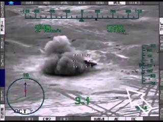 Уникальное видео: боевое применение ПТУР вертолетом Ми-28Н по террористам ИГИЛ в р-не ПАЛЬМИРА
