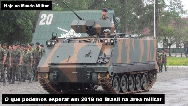 O que podemos esperar em 2019 no Brasil na área militar