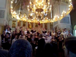 Студенческий хор БГАМ (Минск), худ.рук.и дирижер Инесса Бодяко 07052013