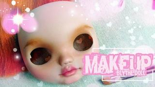 Кастом Блайз. Этап 3. Макияж. Проект Рыжая бестия/Makeup Blythe dolls