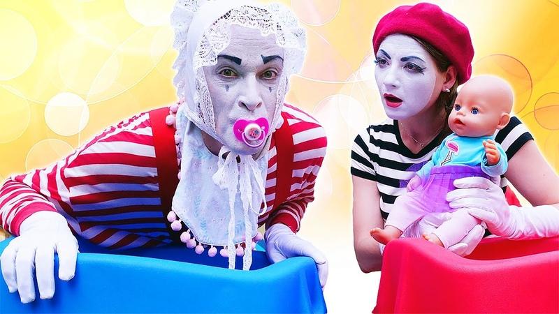 Смешные видео с БЕБИ БОН Кукла Беби Бон капризничает Мим стал малышом Игры дочки матери