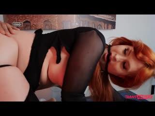 Evie Envy  - Break The Burglar [transsexual, shemale, redhead, hardcore, 720p]