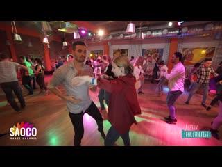 Aram Gulledge and Liliya Abdullina Salsa Dancing at Rostov For Fun Fest (Russia), Sunday  (SC)
