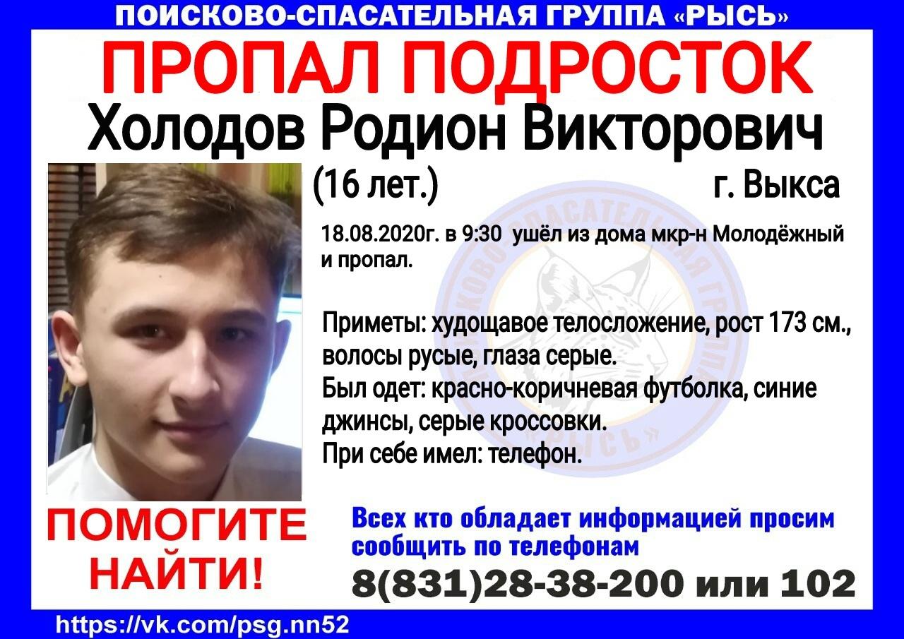 Холодов Родион Викторович, 16 лет, г. Выкса