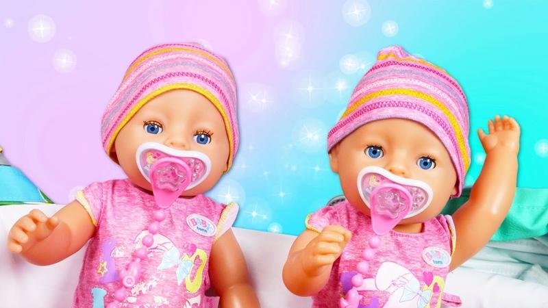 Беби Бон в видео онлайн Близняшки Baby Born балуются Весёлые игры Детские мультики с игрушками