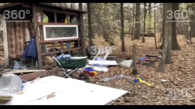 Лес в котором маленький мальчик жил с бездомными из Балашихи