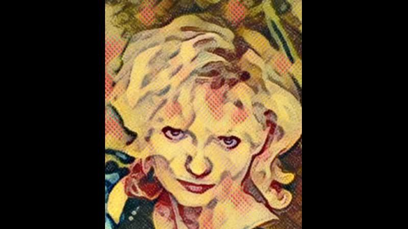 Blonde bimbo smoking