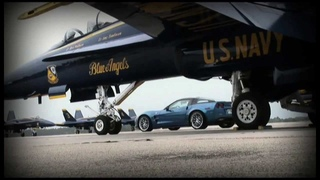 Blue Angel F/A 18 vs Blue Devil ZR1 Corvette in Mile Race