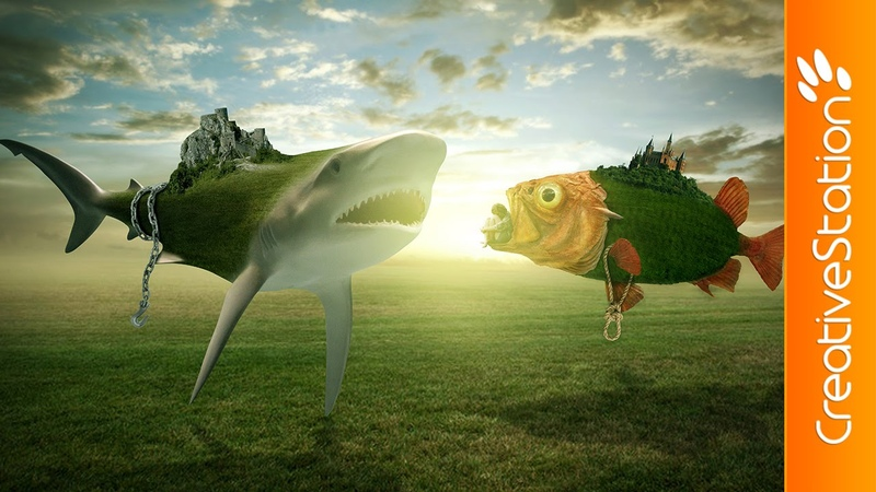 The Untold Fish War Speed art Photoshop CreativeStation