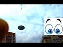 НЛО через Стекло. Реальная съемка или Фейк - Монтаж Замедлено в 16 раз