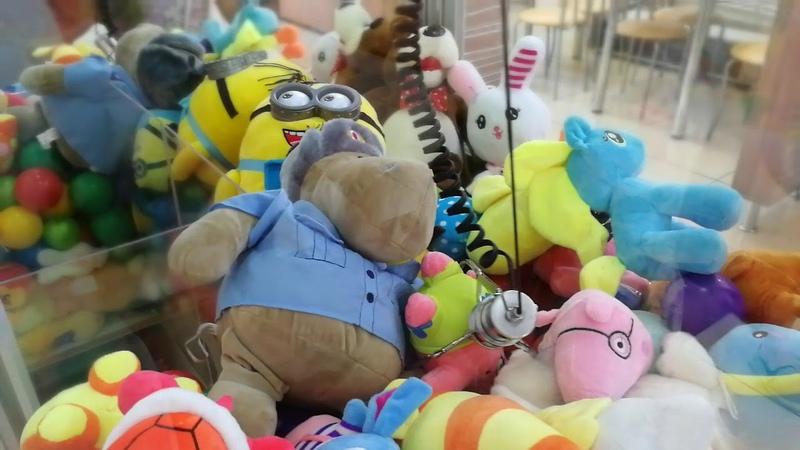 Охота за игрушками из автомата 2 Игра на 100 рублей 10 попыток