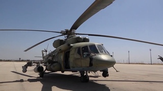 Воздушное сопровождение колонны автомобильной техники при патрулировании в  Заевфратье