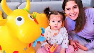 Bebekler için eğitici video. Defne ve hayvanlar ile yapboz yapalım! Anne bebek oyunu