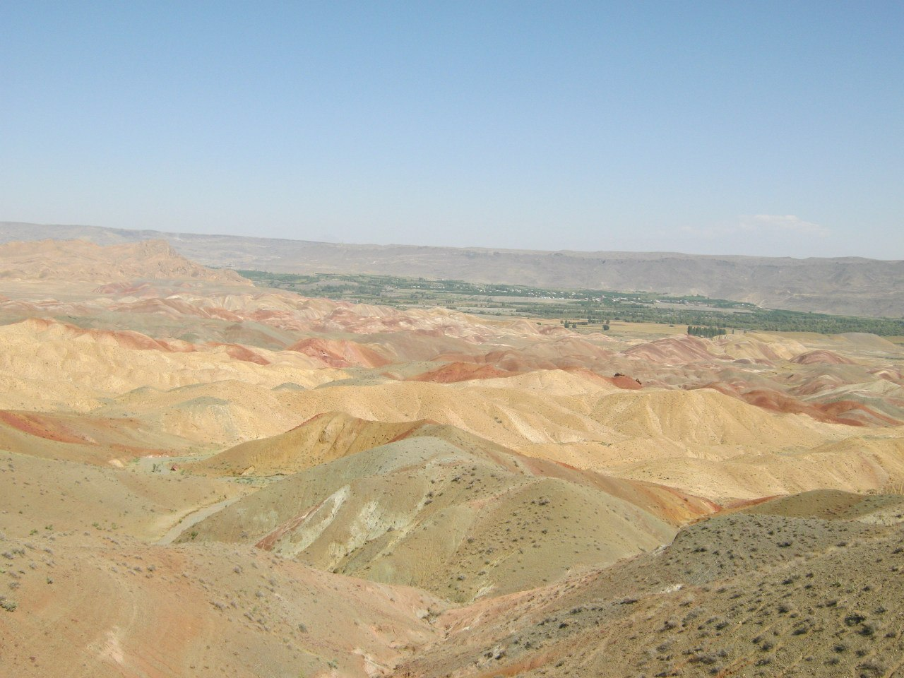 multy-colored landscape as Mars