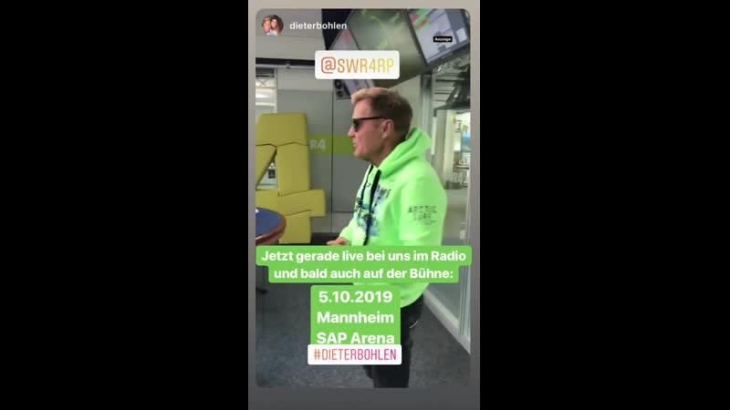 Dieter Bohlen Истории Instagram SWR4 15 05 2019