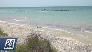 Каспийское море отошло на 10 метров от берега в Актау