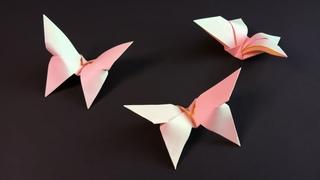 Простая оригами бабочка из бумаги без клея за пару минут • Butterfly Origami