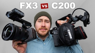 SONY FX3 vs CANON C200 | What you need to know | + CLOG3 & SLOG3 Free 4K Downloads & RAW Photos !!!