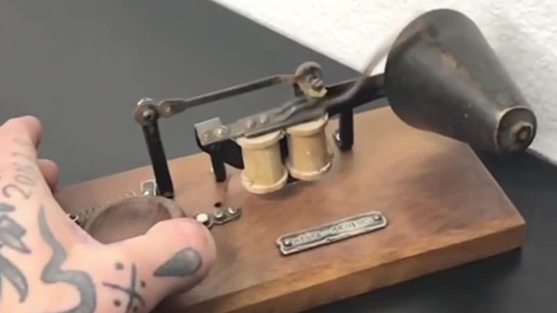 Электрический звонок - Дедушка тату-машинки