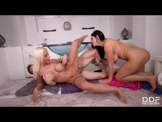 Kira Queen & Kyra Hot - Big Titty Besties Share One Cock