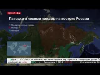 Паводки и пожары в российских регионах: последние новости