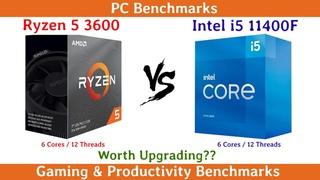 Ryzen 5 3600 vs Intel i5 11400F