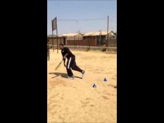 NBA All-Star and UNICEF supporter Kyrie Irving playing Cricket in South Africa