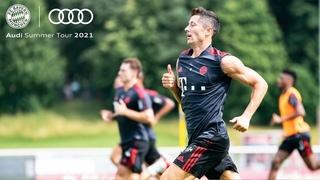 Training session with Lewandowski, Gnabry & the team