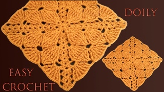 Cuadro o cuadrado a Crochet de hojas para  manta centro de mesa mantel