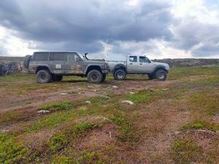 Поездка на Средний и Рыбачий. Ford Ranger, Nissan Patrol