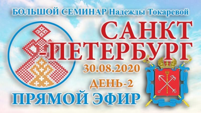 Надежда Токарева 30 08 2020 Д 2 Большой семинар Санкт Петербург Прямой Эфир
