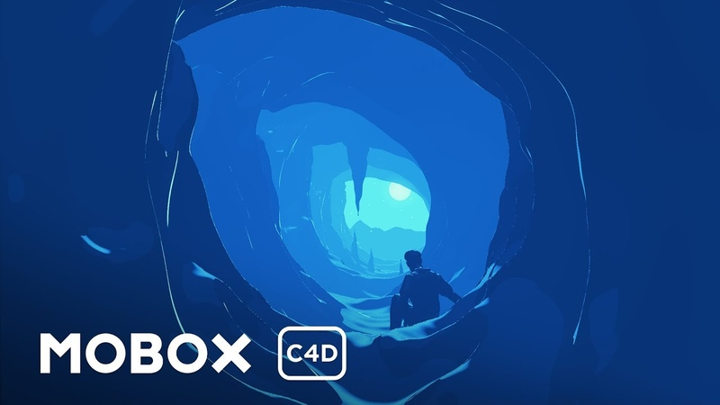 Cell Shaded Cave Scene - Cinema 4D Tutorial