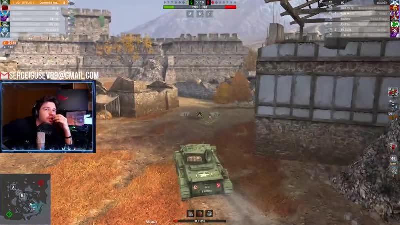 WoT Blitz ПЕСОЧНЫЙ статист СОШЕЛ с УМА и перехитрил все СЕМЕРКИ на Cromwell B World of Tanks Blitz