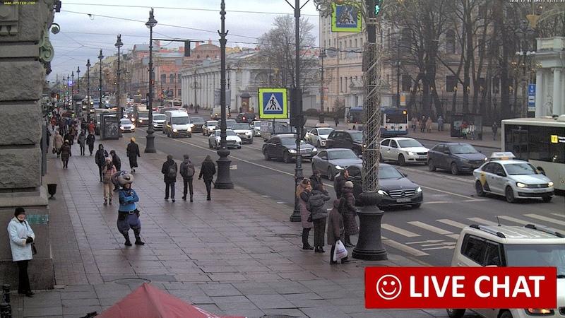 LIVE CAMERA Nevskiy avenue St Petersburg Russia Невский пр Аничков дворец Санкт Петербург