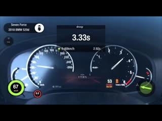 Разгон BMW 520d G30 Stage 1