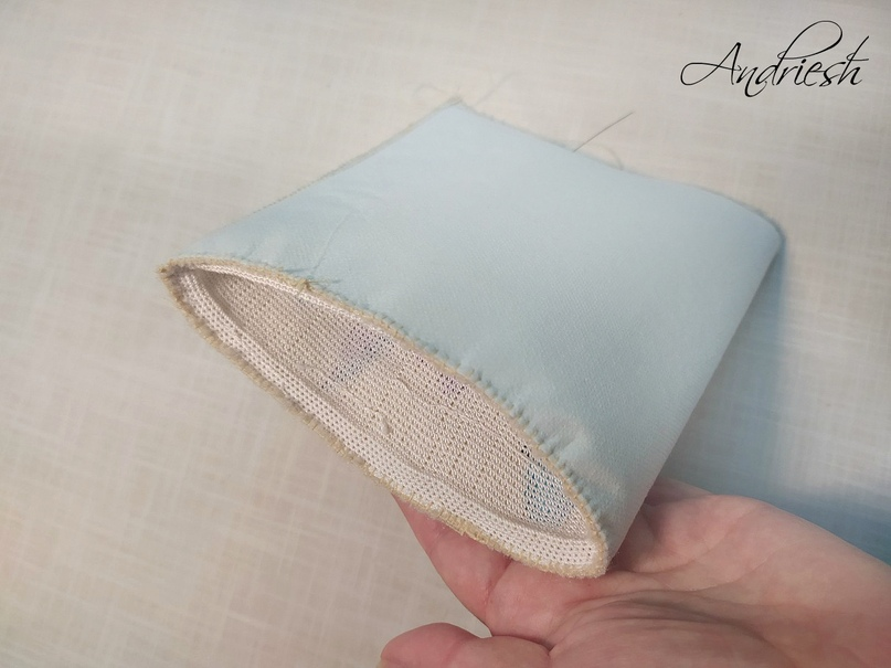 Как я сшиваю донышко и вшиваю в сумки подклад и фермуар., изображение №17