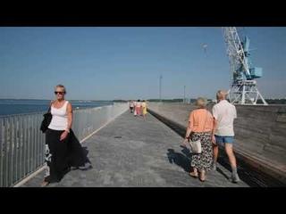 Видео прогулка по новому  променаду  A-терминала таллинского порта.