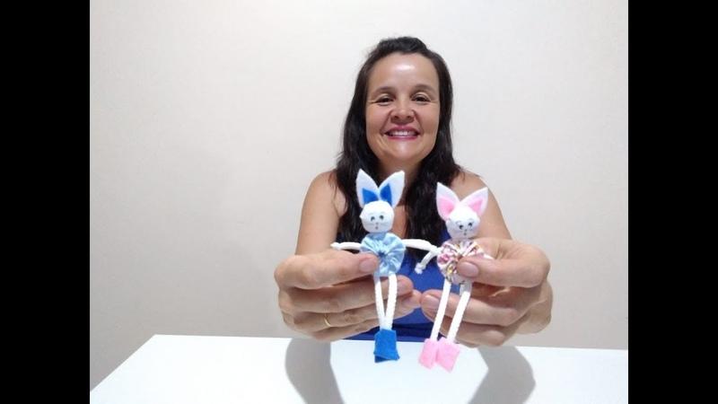 Mini Coelhinho de Fuxico Diy Crafts Páscoa