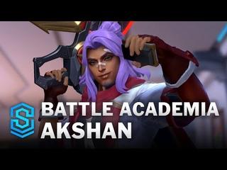 Battle Academia Akshan Wild Rift Skin Spotlight