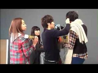 20100114 Lee Min Ho @ HQ Dunkin Donut Making / Cr:  FALCON SEO YB