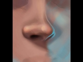 How to Draw a Nose in 3/4 View\\olk
