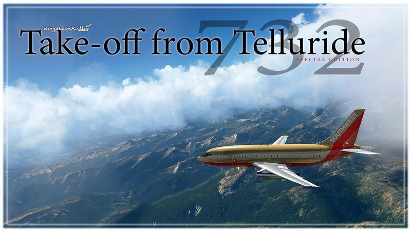 B732.Take-off from Telluride