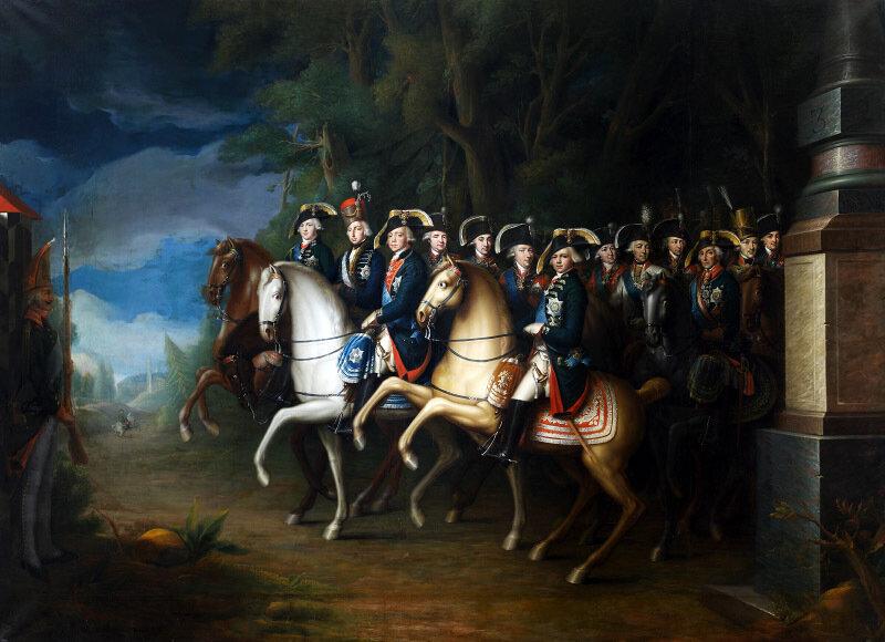 И.Б.Лампи-младший «Император Павел I со свитой» ,1802 г.