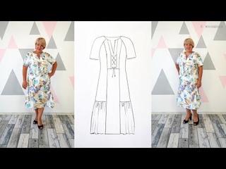 Модное платье на все случаи жизни. Как раскроить платье сприсборкой и оригинальной планкой