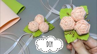 МК Свадебные бутоньерки своими руками How to make a boutonniere