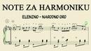 NOTE ZA HARMONIKU Elenino - Narodno oro (Notni zapis i interpretacija: V. Veselinović)